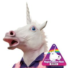 unicorn Mask....seriously considering making Jaymes wear this for Halloween! like it'd take much convincing LOL