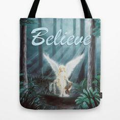 Angel in the Woods Tote Bag by Lauri Loewenberg - $22.00