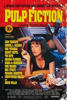 Pulp Fiction is a 1994 American neo-noir crime black comedy film written and directed by Quentin Tarantino, from a story by Tarantino and Roger Avary.