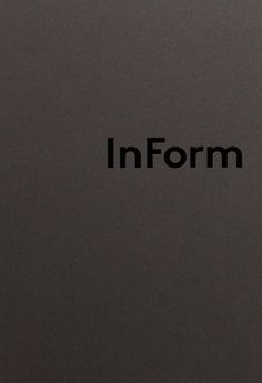 Close-up, logo and print finish for studio InForm by Hofstede Design + Development _