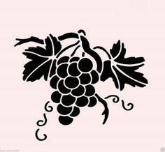grape stencil - Google Search