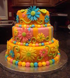 Bright Flower cake
