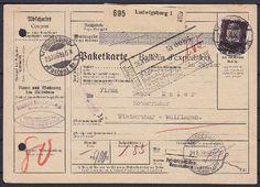 Paketkarte, Ludwigsburg - Winterthur Schweiz 1929