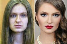 Maquillage avant/après par Vladim Andreev