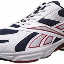 Reebok Men's Acciomax III Lp White and Navy Mesh Running Shoes  - 8 UK