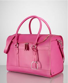 Ralph Lauren pink leather carrier Pink Love, Pretty In Pink, Everything Pink,  Pink f99fc8094c
