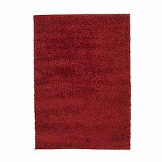 Domino Tapis Shaggy rouge 120x170cm