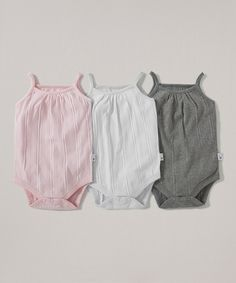 Cloud & Storm Ribbed Organic Bodysuit Set - Infant on #zulily today!