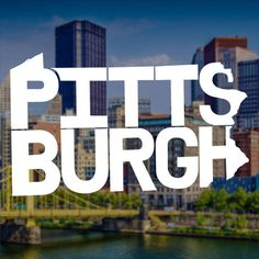 Pittsburgh Decal Pittsburgh Sticker Pittsburgh Decal Pittsburgh Sticker Steelers Decal Laptop Decal Laptop Sticker Macbook Decal by TheStatelyDesignCo
