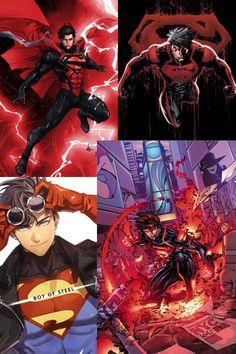 Superboy Dc Comics Heroes, Dc Comics Art, Marvel Heroes, Marvel Comics, Comic Book Characters, Comic Character, Comic Books Art, Comic Art, Superman Suit