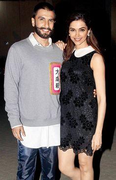 Ranveer Singh and Deepika Padukone outside a film studio. #Bollywood #Fashion #Style #Beauty #Hot #Handsome