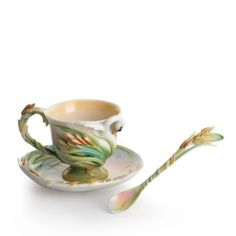 Franz Collection Swan Lake Cup & Saucer with Spoon | Bloomingdale's