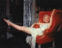 Marilyn in red chair