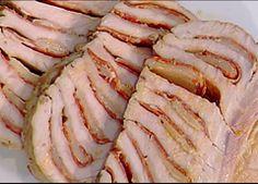Cuochi per caso...o per forza!!: Arrosto di maiale con salame e grana di Anna Moron...
