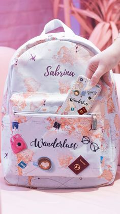 Discover recipes, home ideas, style inspiration and other ideas to try. Girly Backpacks, Cute Mini Backpacks, Stylish Backpacks, School Backpacks, Cute School Bags, Cute School Supplies, School Bags For Girls, Cute Luggage, School Accessories