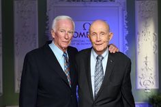 Gene Cernan and Tom Stafford, Gemini 9 and Apollo 10 crewmates. Stafford Air and Space Musuem, Weatherford, OK