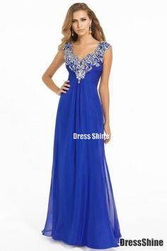 I like this - Graceful Prom Dress V Neck Off The Shoulder Chiffon Floor Length Beaded Ruffled. Do you think I should buy it?