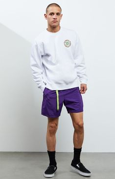 Short Outfits, Summer Outfits, Summer Clothes, Best Streetwear Brands, Fashion 2020, Mens Fashion, Color Shorts, Pacsun, Street Wear