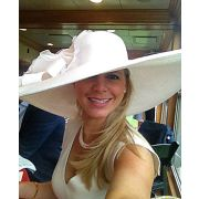 """Derby Hat  8"""" Brim White Hat from HAT-A-TUDE.com:  http://www.hat-a-tude.com/ecommerce/kentucky-derby-hats/kentucky-derby-hats-white/white-5-brim-white-rose.php"""
