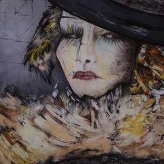 acrylic portrait batik - Google Search