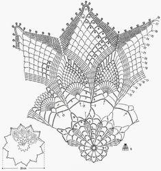 Delicadezas en crochet Gabriela: Carpeta con piñas decorativas