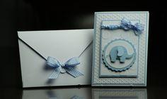 Einladungskarten - Einladungskarte Personalisiert Taufe Junge - ein Designerstück von EvasCardArt bei DaWanda