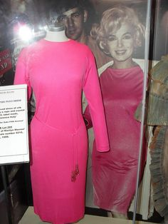 Marilyn Monroe's Pink Pucci dress; shown here, on exhibit at The Hollywood Museum.