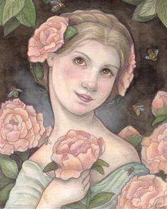 "Daily Paintworks - ""Queen Bee"" - Original Fine Art for Sale - © Lisa Ferguson"