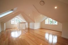 Attic renovation.  Extending roof space.  Beautifully done.