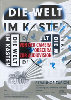Schraivogel, Ralph poster: Die Welt im Kasten (The World in a Box from the Camera Obscura to Audiovision) | Shop original vintage #posters online: www.internationalposter.com