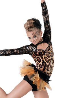 Weissman™ | Leopard Print Feather Tulle Bustle I just can't wait to be king