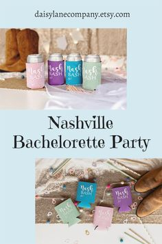 Plan a Nashville Bachelorette Party with lots of fun accessories. Start with Nash Bash can coolers in cute colors for the girls to use in style on your trip. From a Lets Get Nashty Bachelorette to a Nashville Girls Trip, these beer holders will be a hit at the party. Use the Nash Bash coolers as Last Bash in Nash bachelorette party favors or add them to goodie bags for your guests. With a variety of colors they can be used for a bachelor party too. Visit daisylanecompany.com today. Mermaid Party Favors, Bachelorette Party Planning, Girls Getaway, Can Holders, Team Gifts, Great Memories, Goodie Bags, Coolers, Nashville