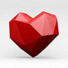 low poly heart - Google 搜尋