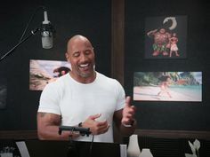 I find these entertaining. The clip above is a side-by-side video of Dwayne Johnson singing You're Welcome in Moana with Maui in the movie Moana.