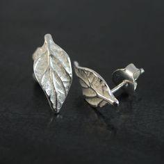 14. Spring Leaf silver studs