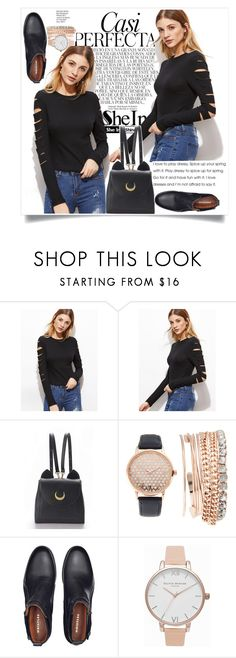 """""""my sets are trash but i swear i try"""" by xconstancax ❤ liked on Polyvore featuring Whiteley, WithChic, Jessica Carlyle and Olivia Burton"""