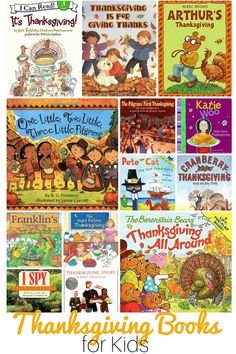 Thanksgiving Books for Children -- a great idea to spend time as a family reading while the turkey cooks!