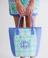 Sea Tile Cooler Bag Monogrammed   The Preppy Pair