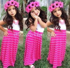 this is too cute now I wonder where I can find a maxi skirt for a  little girl