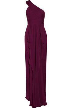 Notte by Marchesa-- Fall Bridesmaid Dress in Merlot