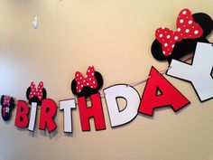 Minnie Mouse Banner Red 1pc Minnie Party by CutestBowsOnTheBlock