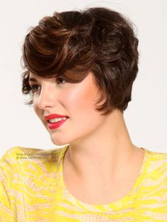 Pin up hairstyles for short hair brown bangs