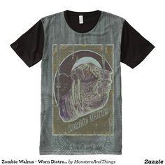 Zombie Walrus - Worn Distressed look