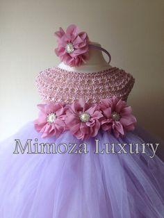 Rapunzel princess tutu dress crochet tutu dress by MimozaLuxury