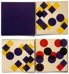 Kinderbuch par Dieter Roth. 28 pages, 4 tons directs, 32 x 32cm, 1954-1957. Imprimé à 100 exemplaires par Hólar Prent, Reykjavík.