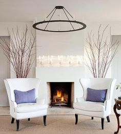 If you like sleek, sophisticated, and singular, you'll love these modern fireplace designs that direct attention to flames blazing within. Diy Fireplace, Modern Fireplace, Living Room With Fireplace, Fireplace Design, Living Room Plan, Simple Living Room, Home And Living, Living Room Decor Colors, Bedroom Layouts