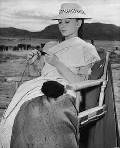 Audrey Hepburn, she was amazing and KNITTED too? A true inspiration!
