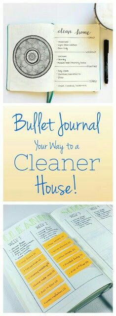 How to Use Your Bullet Journal to Keep Your House Clean. Best cleaning layouts. Less mess, less stress.