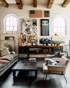 The Garage Amsterdam is a brilliant gallery and project space for artists more familiar with working on walls than within them. Decor, House Styles, Eclectic Industrial, Rustic House, House Design, Eclectic Decor, Interior Design, Home Decor, House Interior