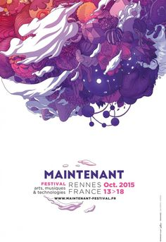 Maintenant Festival Rennes, visual identity designed by Ori Toor. Poster Fonts, Poster Layout, Graphic Design Posters, Graphic Design Typography, Minimalist Poster Design, Event Poster Design, Creative Posters, Creative Art, Illustration Design Graphique
